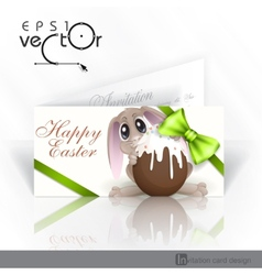 Easter Bunny With Chocolate Egg vector image