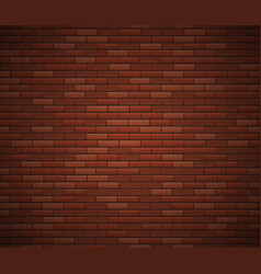 empty brick wall surface old red brick wall vector image