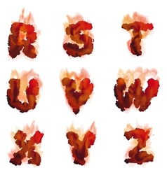 English burning alphabet vector image