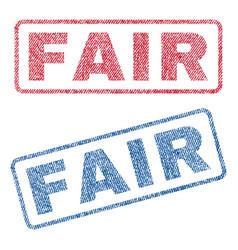 Fair textile stamps vector