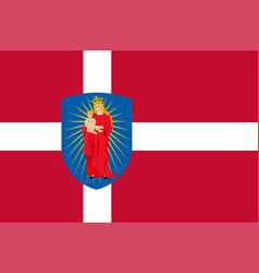 Flag of thisted in southern denmark region vector