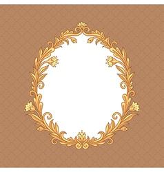 Floral baroque vector