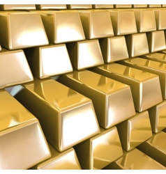 Gold Bars background vector image