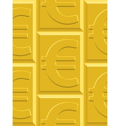 Gold euro pattern vector image