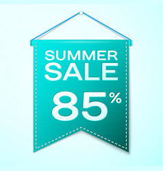Green pennant with summer sale eighty five vector
