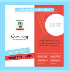 halloween book company brochure template busienss vector image
