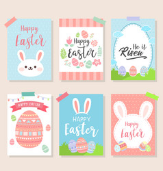 happy easter invitation wallpaper flyers poster vector image