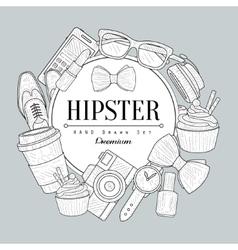Hipster Items Vintage Sketch vector