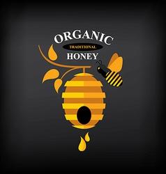Honey badgelabel Abstract bee design vector