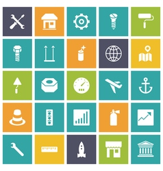 Icons plain tablet industrial vector
