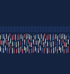 Indigo blue regatta stripe seamless border vector