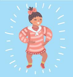 Infant child baby girl toddler vector