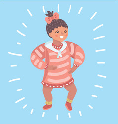 infant child bagirl toddler vector image