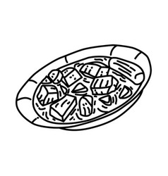 Jalamah icon doodle hand drawn or outline icon vector