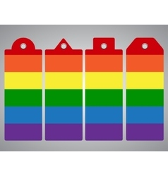 LGBT stickers Price tag Eps 10 vector image