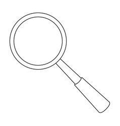 magnifying glass icon in outline style isolated on vector image