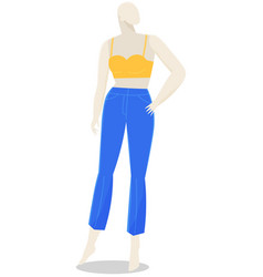 mannequin for women s clothes showcase female vector image