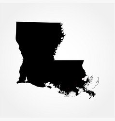 map of the us state of louisiana vector image