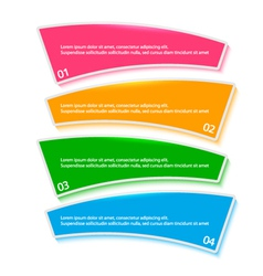 menu template process steps firm report vector image
