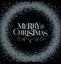 Merry christmas glitter background vector