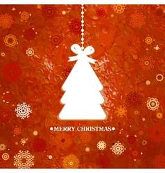 Merry Christmas Tree Card vector image