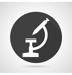 Microscope black round icon vector
