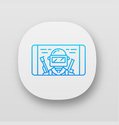 Mobile game app icon shooter smartphone game vector