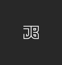 modern logo jb or bj initials logo monogram vector image