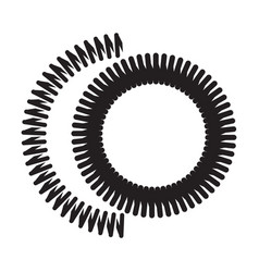 Monochrome icon with a spring vector