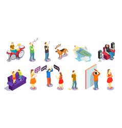 Neighbors relations isometric people vector