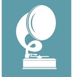 Old gramophone isolated icon design vector