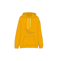 orange sweatshirt hooded fashion style item vector image