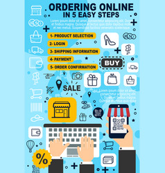 ordering online service purchase information vector image