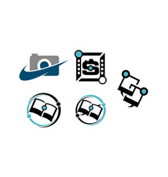 photography education sharing service set vector image