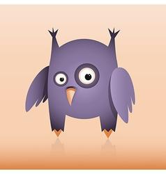Purple owl vector image