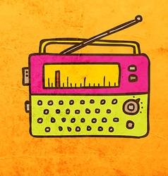 Radio Cartoon vector