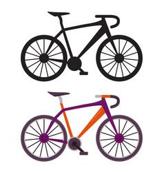 Retro city bike icons vector