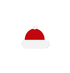 santa hat icon santa hat red icon santa hat vector image