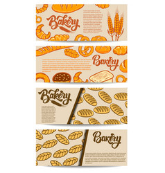 Set bakery flyers design element for poster vector