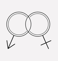 sexology icon line element of vector image