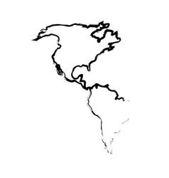 Silhouette map world location landmark vector