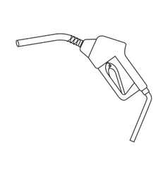 Silhouette with fuel hose dispenser vector