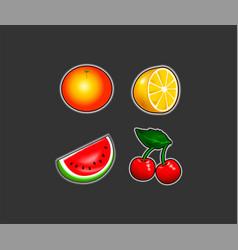 slot machine symbols set vector image