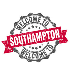 southampton round ribbon seal vector image