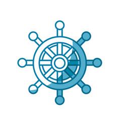 Steering ship boat vector