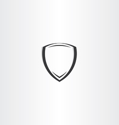 stylized black shield icon vector image