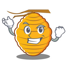 Successful bee hive character cartoon vector