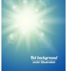 Summer background with a sun vector image