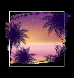 summer night beach poster tropical natural vector image