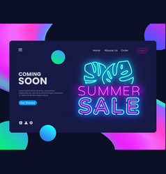 summer sale banner design template summer vector image